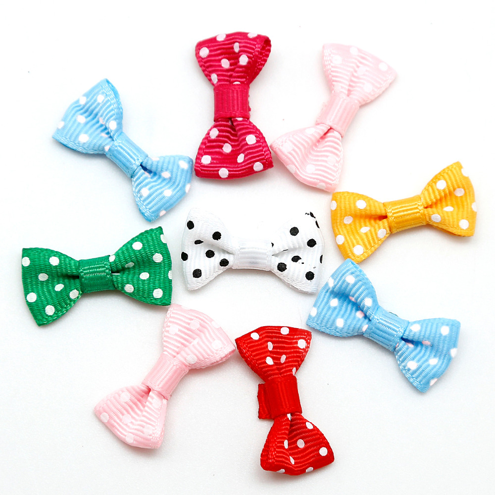 Dot Ribbon Bow Colorful