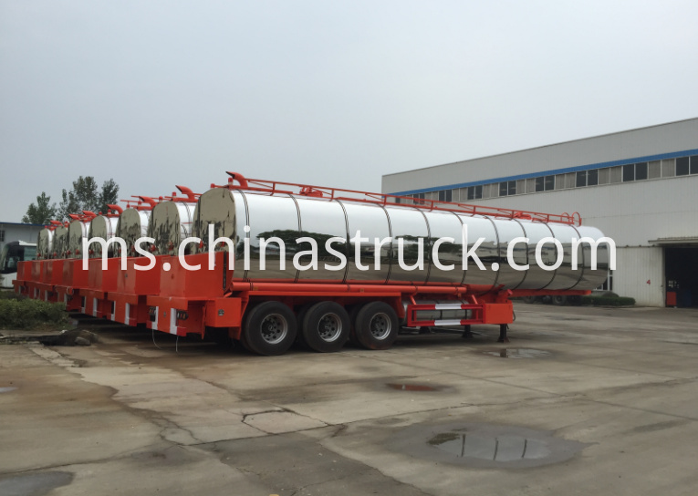 3 axle asphalt liquid tank semi-trailer