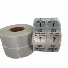 Etiquetas de código de barras de vinil de poliéster prata permanente permanente impermeável personalizado