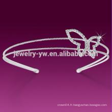 Bandeau floral à la mode Fashion Ivory White pour femmes avec perle
