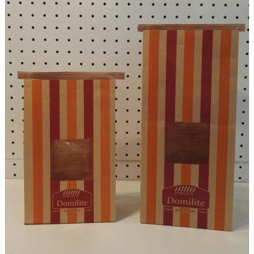 Sacos de papel do alimento com laço da lata