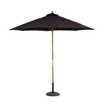 2.7m Grand parapluie octogonale extérieur au patio noir