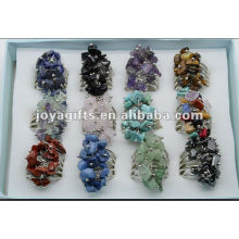 12pcs/box chip stone wrap rings