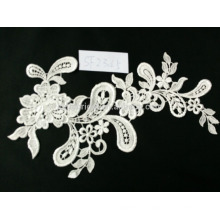 Latest designs embroidery french lace fabric for garment