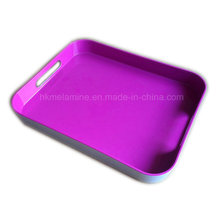 Square Melamine Tray with Handle (TR3963)