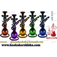 Colored Medium Glass Hookah With Gourd Shaped Vase