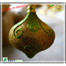 Christmas glitter onion shape decoration in stock