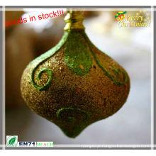 Decoração em forma de cebola glitter de Natal em estoque