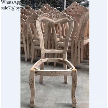 Massivholzmöbelrahmen, der Stuhlrahmen aus Holz schnitzt