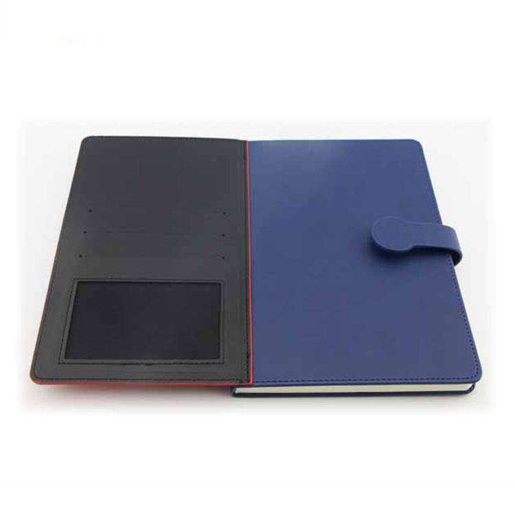 A5 Calendar Pocket Promotional Leather Custom Journal Notebook