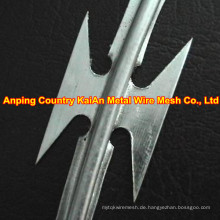 Sharp Razor Wire / Stacheldraht Draht / verzinkter Rasiermesser Draht / PVC beschichtet Rasiermesser Draht / Stacheldraht ---- 30 Jahre Fabrik