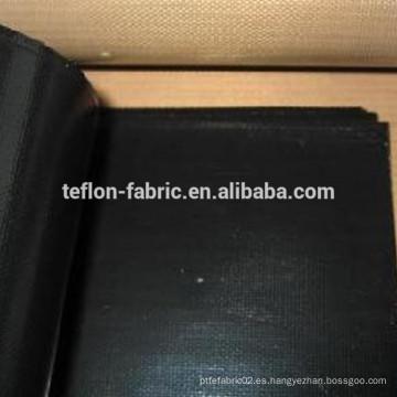 Tejido de vidrio antiestático de color negro recubierto de PTFE