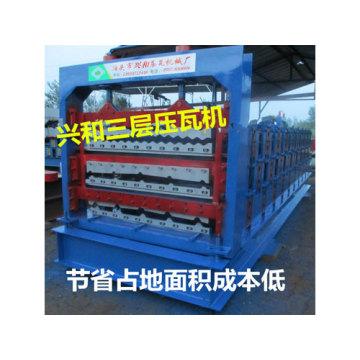 Máquina perfiladora en frío de láminas de techo vidriado automático para la venta
