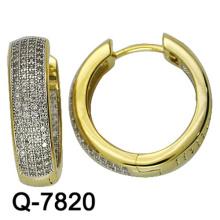 Brincos novos da jóia de cobre do modelo Huggies com preço competitivo da fábrica