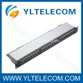1U 19 polegadas 24port(3*8) tipo blindado Patch Panel Cat. 5E e Cat. 6