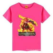 Verão único bebê menino nomes algodão T-shirt padrões monstro crianças t-shirt curto