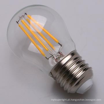 Bulbo do diodo emissor de luz dos filamentos de vidro de 2W 4W G45 E27