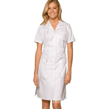 100% Cotton white doctor's uniform lab coat hospital uniform doctor gown