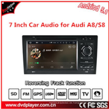 7 Zoll HD Touch Screen, Doppel DIN, Android 5.1 OS Auto DVD GPS Navigation für Audi A8 / S8