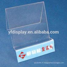 Présentoir de téléphone portable acrylique clair de table