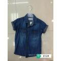 Cheap Boys summer short sleeve top T-shirt Kids Denim Blouses With Buttons