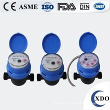 Compteur d'eau en plastique d'entraînement magnétique volumétrique à piston rotatif couvre