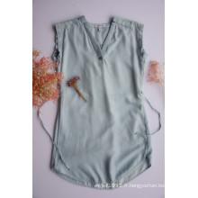 Chemises courtes sans manches pour femmes