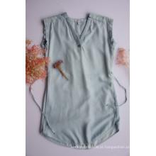 Camisetas femininas sem mangas curtas