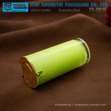 ZB-PR15 15ml dur et épais double paroi conique rond cosmétiques acrylique flacon airless