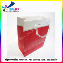 Fashion Gloss Finish Paper Bag with Silver Foil