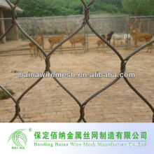 stainless steel wire rope mesh net for zoo enclosure/zoo wire mesh