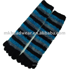 2013 new coming terry jacquard knitted five-toe sock