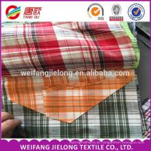 tecido de algodão 100% tecido para t-shirt, fio de algodão tingido tecido fio de algodão 100% tingido de tecido para uso de camisa t
