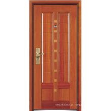 Porta blindada de madeira de aço (YF-G9019)