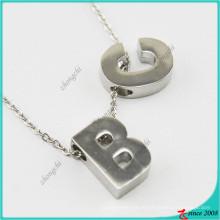 Nuevo diseño del alfabeto del estilo del encanto del collar pendiente