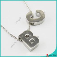 Novo Design Alphabet Style Charme Pingente de Colar