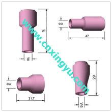 Boquilla de alúmina para la antorcha de soldadura tig, boquilla de cerámica