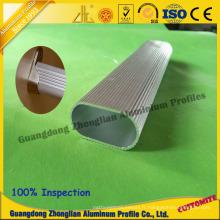 Profil en aluminium de meubles pour le profil de tube de garde-robe de profil de tube