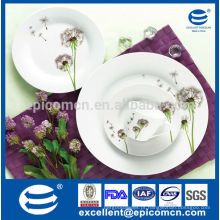 Louça de porcelana 19pcs porcelana cerâmica dandelion dinnerware