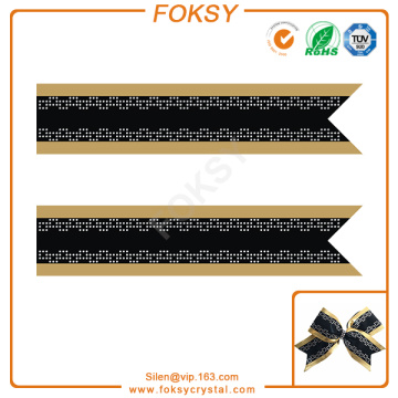 Geometric patterns rhinestone design for cheer bowtique