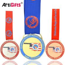 Premios de trofeos a la medalla de Karate de Metal personalizado de Oklahoma de Estados Unidos