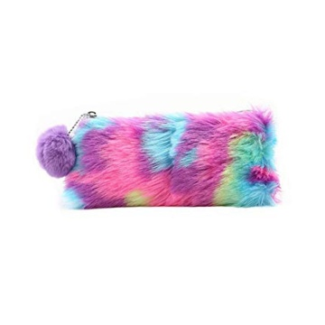 FUZZY PENCIL CASE WITH POMPON-0