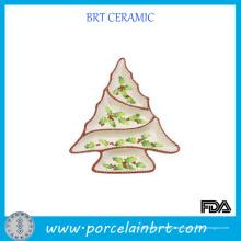 Crearive-Baum-geformte keramische abgeteilte Platte