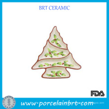 Crearive Tree Shaped Ceramic Devided Plate