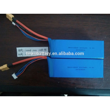 Powerful 14.8V 5000mah 20C lipo battery for RC airplane,car,boat etc.