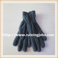 Men's grey fleece gloves