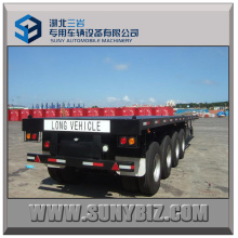 50t 4alxes Container Flatbed Semi Trailer