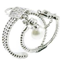 La más nueva manera y el anillo de la joyería de la plata esterlina de la buena calidad 925 (R10425)