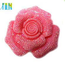 maior resina flatback cabochão cor rosa resina flor para jóias
