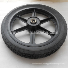 14 inch spoke wheel semi-pneumatic wheels solid rubber wheel for cart